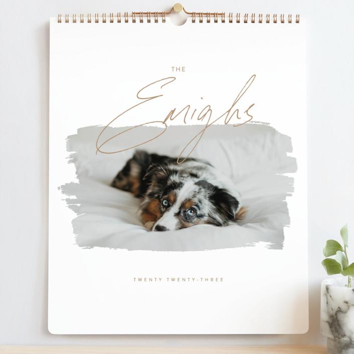 """""""Eclair"""" - Modern Photo Calendars in Copper by Christie Garcia."""