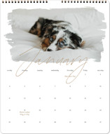 This is a brown photo calendar by Christie Garcia called Eclair printing on premium calendar paper in grand.