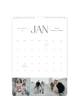This is a grey photo calendar by Brianne Larsen called Classic Year printing on premium calendar paper in standard.
