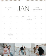 This is a grey photo calendar by Brianne Larsen called Classic Year printing on premium calendar paper in grand.