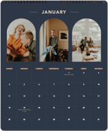 This is a blue photo calendar by Alex Roda called Ovalon printing on premium calendar paper in grand.