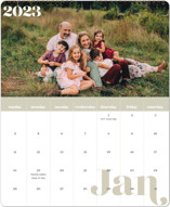 This is a green photo calendar by EMANUELA CARRATONI called Minimal Classic printing on premium calendar paper in grand.