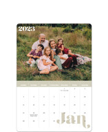 This is a green photo calendar by EMANUELA CARRATONI called Minimal Classic printing on premium calendar paper in standard.