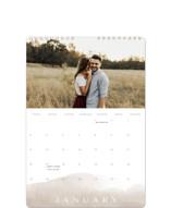 This is a brown photo calendar by Calluna Fine Paper called Sand printing on premium calendar paper in standard.