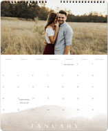 This is a brown photo calendar by Calluna Fine Paper called Sand printing on premium calendar paper in grand.