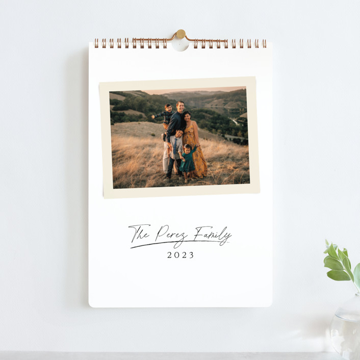 """Signature Snapshot"" - Preppy Photo Calendars in Parchment by Kaydi Bishop."