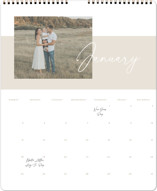 This is a beige photo calendar by Sara Hicks Malone called New Moon printing on premium calendar paper in grand.