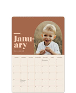 This is a brown photo calendar by Jennifer Lew called Unite printing on premium calendar paper in standard.