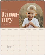 This is a brown photo calendar by Jennifer Lew called Unite printing on premium calendar paper in grand.