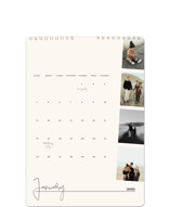 This is a beige photo calendar by Robin Ott called proof printing on premium calendar paper in standard.