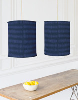 In A Row Chandelier Lampshades