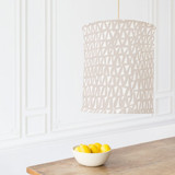 Painted Triangles Chandelier Lampshades