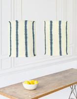 Hand-dyed Shibori Stripes