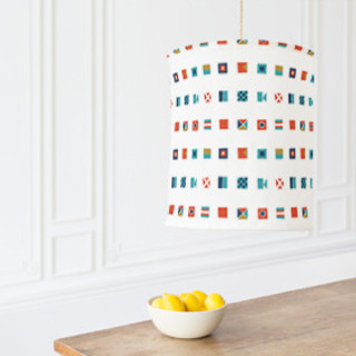 Nautical Flags Chandelier Lampshades