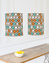 Bright Hexagons Chandelier Lampshades