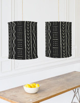 mud cloth tribe Chandelier Lampshades