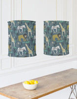 In the Jungle Chandelier Lampshades