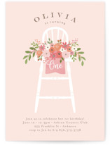 This is a pink petite kids birthday invitation by Jennifer Wick called Freshly cut flowers with standard printing on signature in petite.