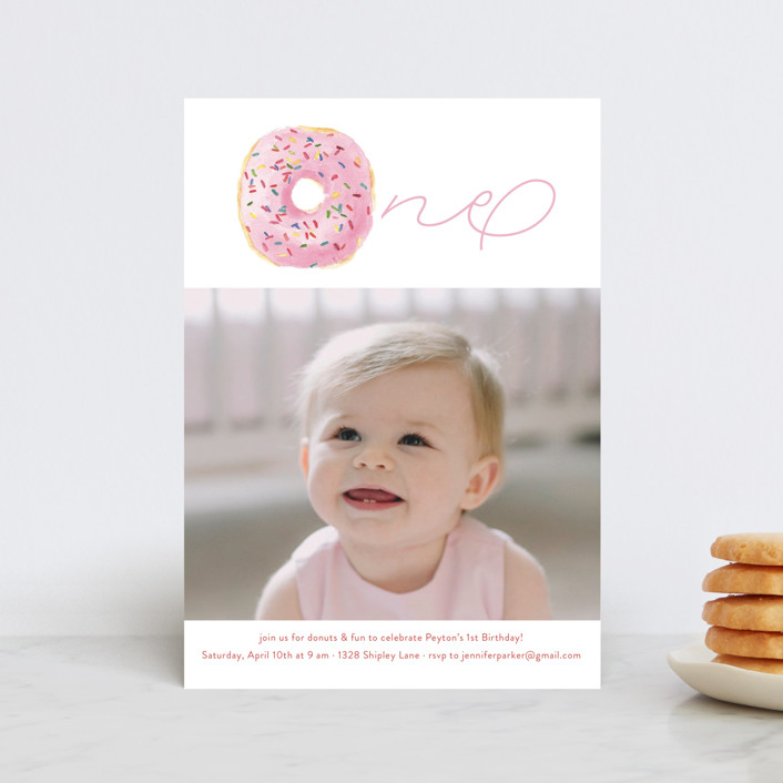 """""""Sprinkle Me One"""" - Petite Children's Birthday Party Invitations in Candy by Lagniappe Paper."""