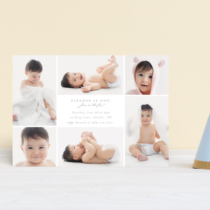 """""""Join in the fun!"""" - Petite Children's Birthday Party Invitations in Cloud by Caitlin Considine."""