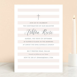 sleek confirmation invitations by lauren chism minted