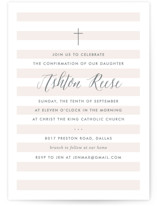 This is a pink confirmation invitations card by Lauren Chism called Sleek with standard printing on pearlescent in standard.