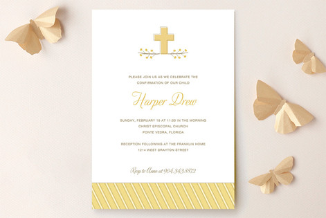 Sweet Cross Confirmation Invitations
