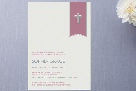 Gift of the Spirit Confirmation Invitations