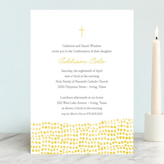 Stepping Stones Confirmation Invitations