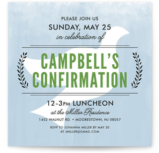 With the Spirit Confirmation Invitations