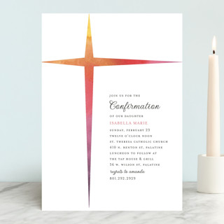 Ombre Cross Confirmation Invitations