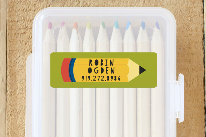 """Pencil"" - Custom Name Labels in Grass by Jessica Ogden."