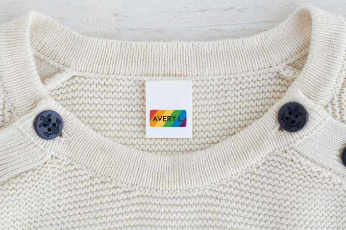"""""""Simple Rainbow"""" - Custom Name Labels in Sherbet by Jessica Ogden."""