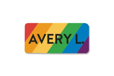Simple Rainbow Custom Name Label