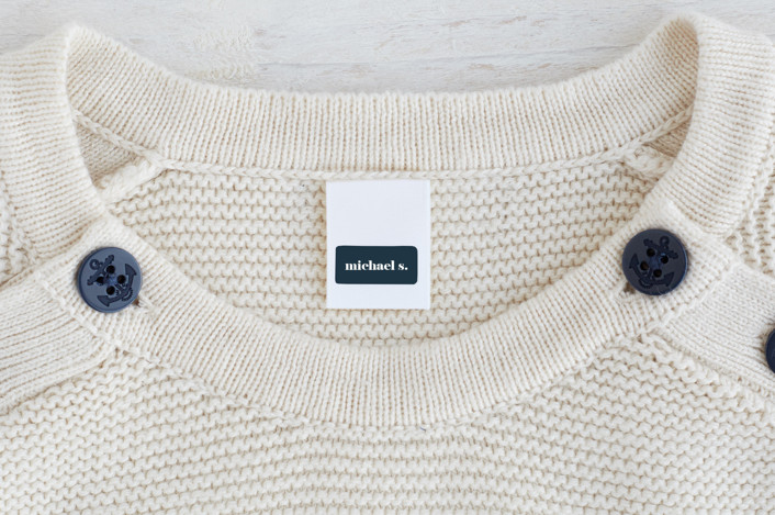 """""""We Do This Every Year"""" - Custom Name Labels in Navy by Amy Payne."""
