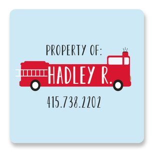 Fire Engine Name Custom Name Label