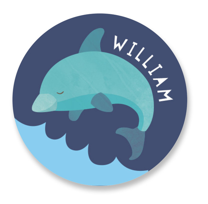 dolphin Custom Name Labels