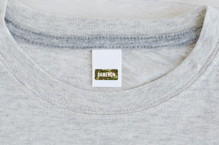 """""""Camo"""" - Custom Name Labels in Camouflage by Shiny Penny Studio."""