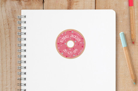 Sweet Donut Custom Name Labels