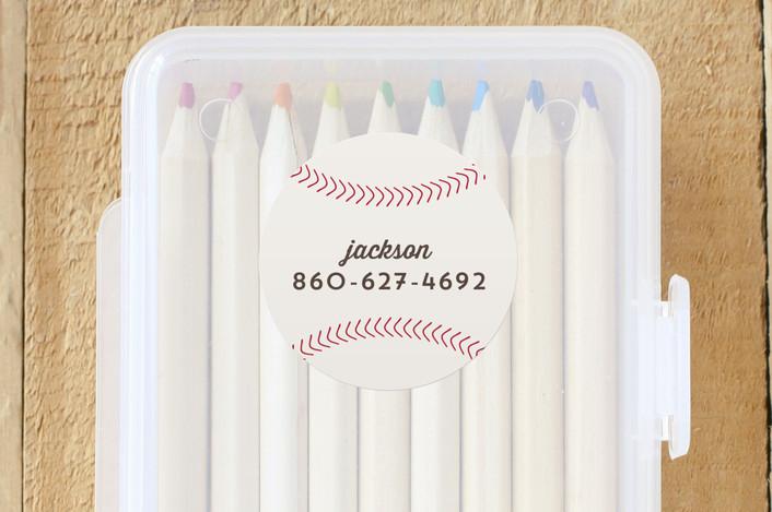 """""""Home Run"""" - Custom Name Labels in Dirt by Sarah DeWitt."""
