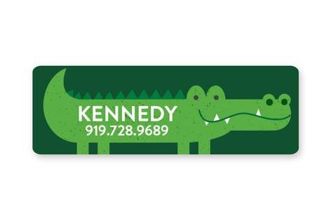 Alligator Custom Name Label