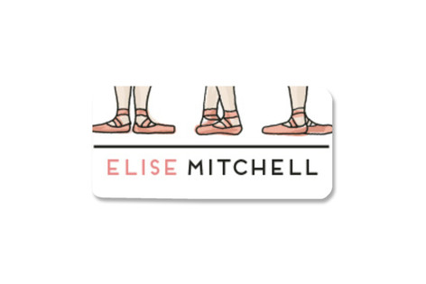 Ballet Feet Custom Name Label
