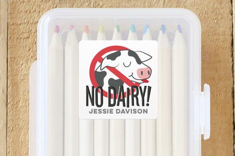 No Dairy Custom Name Labels