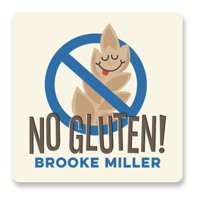 No Gluten Custom Name Labels