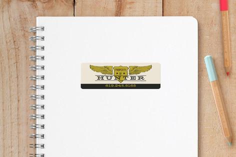 Wings Badge Custom Name Labels
