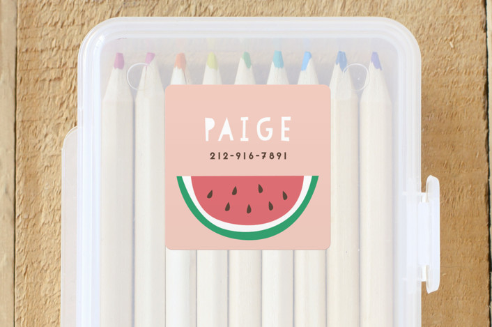 """Watermelon"" - Custom Name Labels in Cherry Blossom by peetie design."