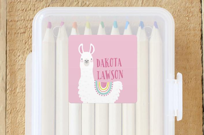 """Llama Fun"" - Custom Name Labels in Candy by Karidy Walker."