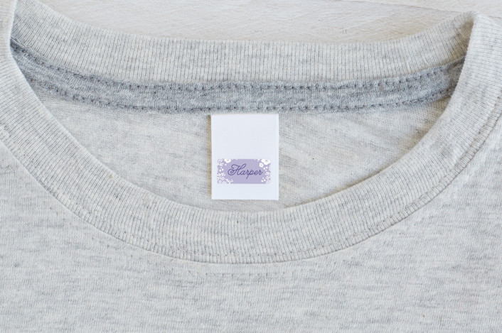"""""""Delicate Flowers"""" - Custom Name Labels in Lilac by Karidy Walker."""