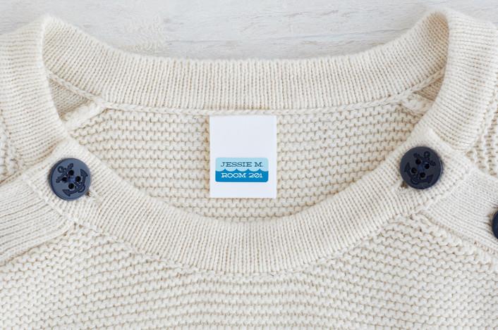 """Simple Waves"" - Custom Name Labels in Ocean by Jessica Ogden."