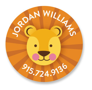 Lion Custom Name Label